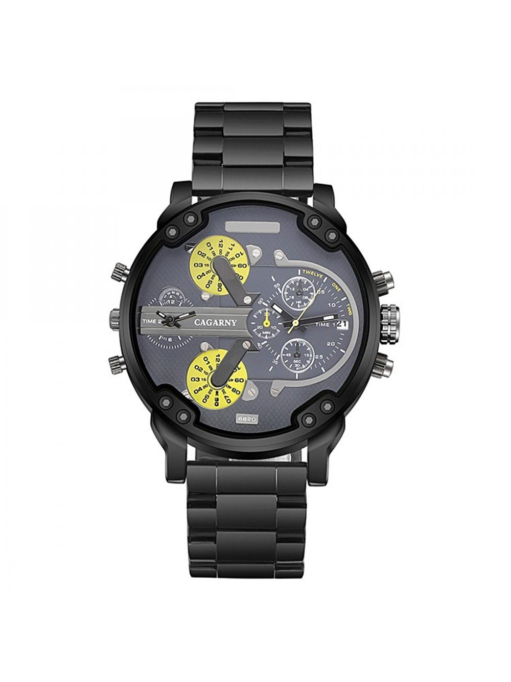 183fb5557 Pánske módne hodinky C005 - black - yellow. Loading zoom. Predchádzajúce.  Pánske módne hodinky ...