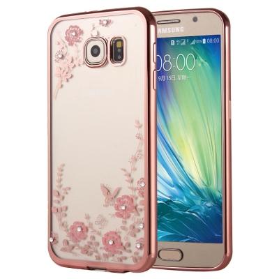 Ochranný flex kryt pre Samsung Galaxy A5 2016 - Flower pink