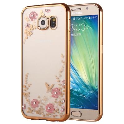 Ochranný flex kryt pre Samsung Galaxy A5 2016 - Flower gold