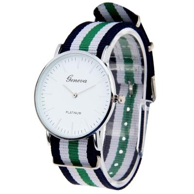 Unisex módne hodinky G011- green / white