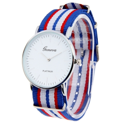 Unisex módne hodinky G011- blue / white