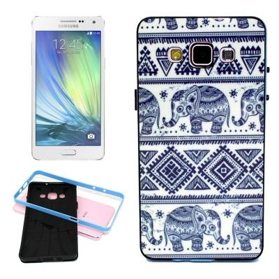 Ochranný kryt s rámom pre Samsung Galaxy A5 - Elephant Pattern