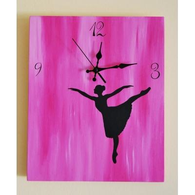 Ručne maľované hodiny Balletgirl