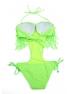 Dámske jednodielne plavky monokini so strapcami RA155011-403