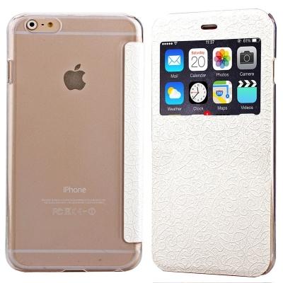 Flip ochraný kryt s ornamentami pre iPhone 6/6S - gold