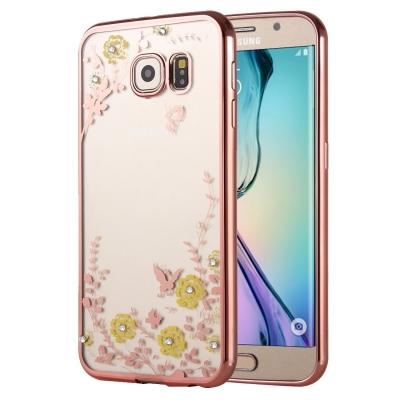 Ochranný kryt s rámom na Samsung Galaxy S6 - Kvety