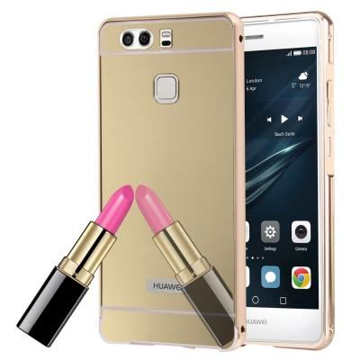 Zrkadlový kryt pre Huawei P9 - Gold