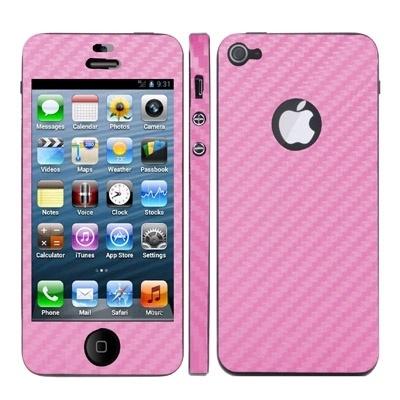 iPhone 5 / 5S karbonová samolepiaca fólia - ružová