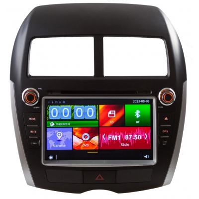 Mitsubishi ASX Autorádio Multimediálne s DVD USB a GPS Navigáciou – OS WIN CE 6