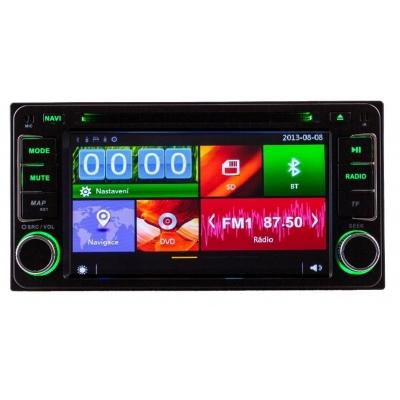 TOYOTA Autorádio UNIVERZÁL Multimediálne s DVD USB a GPS Navigáciou – OS WIN CE 6
