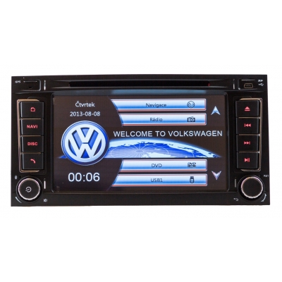 Volkswagen Touareg Autorádio Multimediálne s DVD USB a GPS Navigáciou – OS WIN CE 6