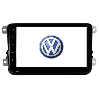 VW Volkswagen Autorádio 8 palcové Multimediálne s DVD USB a GPS Navigáciou – OS ANDROID 6.0