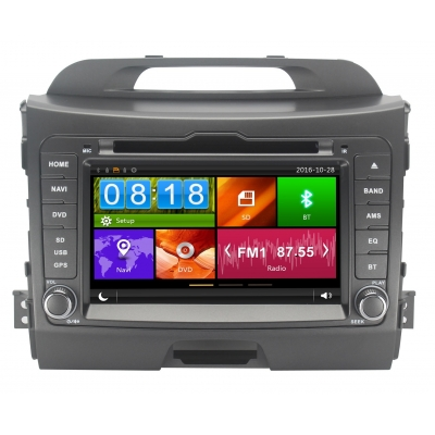 KIA Sportage Autorádio Multimediálne s DVD USB a GPS Navigáciou – OS WIN CE 6
