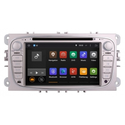 FORD Autorádio Android DVD USB a GPS Navigáciou – OS ANDROID 7.1.2