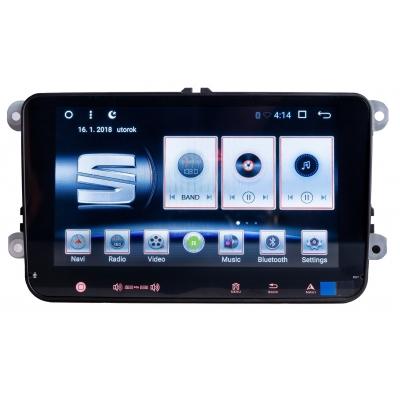 SEAT Autorádio 8 palcové s USB a GPS Navigáciou – OS ANDROID 6.0.1