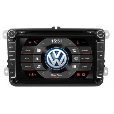 VW Autorádio Android 8 palcové DVD USB GPS Navigáciou-OS ANDROID 7.1
