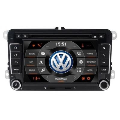 VW Autorádio Android 7 palcové DVD USB GPS Navigáciou-OS ANDROID 7.1