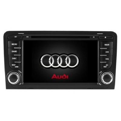 AUDI A 3 Autorádio 7 palcové  Multimediálne s DVD USB a GPS Navigáciou – OS WIN CE 6