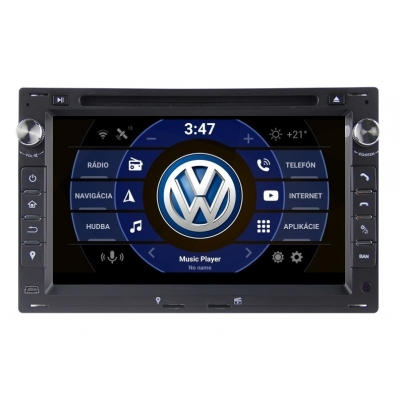 VW Volkswagen Autorádio Android DVD USB a GPS Navigáciou – OS ANDROID 9.0
