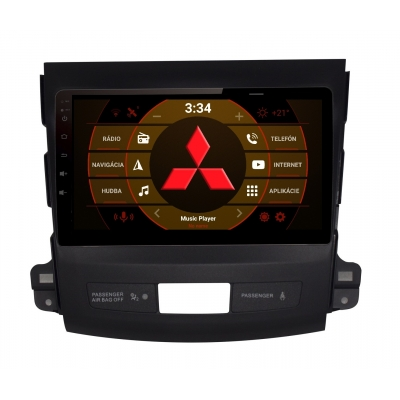 2din Android Autorádio Mitsubishi OUTLANDER s WiFi DVD USB a GPS– OS ANDROID 8.1