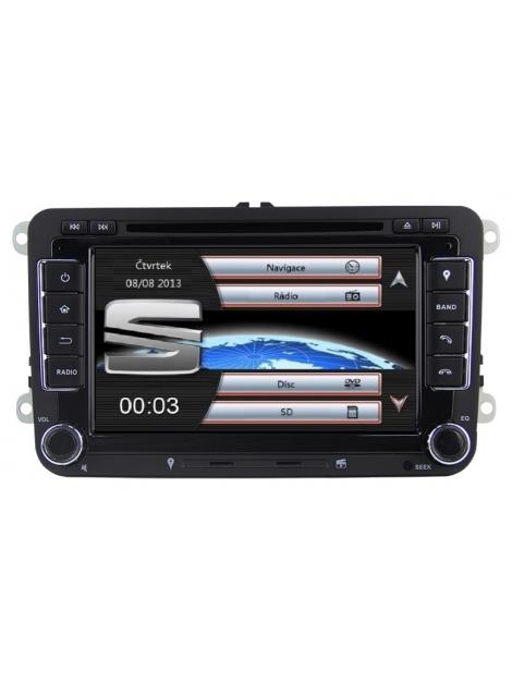SEAT Autorádio Multimediálne s DVD USB a GPS Navigáciou – OS WIN CE 6