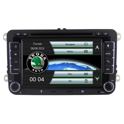 Škoda Autorádio 7 palcové  Multimediálne s DVD USB a GPS Navigáciou – OS WIN CE 6