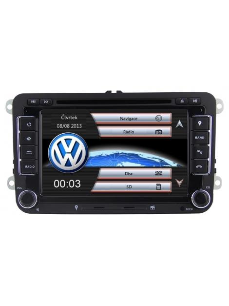 Volkswagen Autorádio 7 palcové  Multimediálne s DVD USB a GPS Navigáciou – OS WIN CE 6