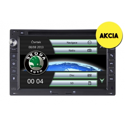 Škoda Multimediálne Autorádio s DVD USB a GPS Navigáciou – OS WIN CE 6