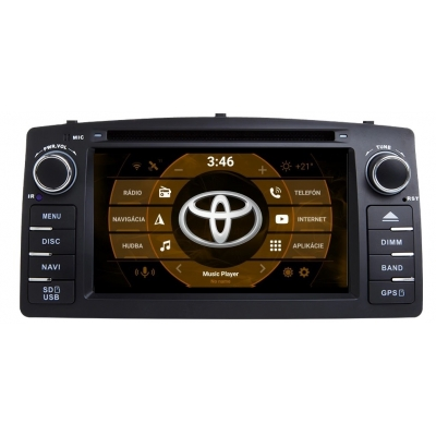 Toyota Corolla Autorádio Android DVD USB a GPS Navigáciou – OS ANDROID 7.1
