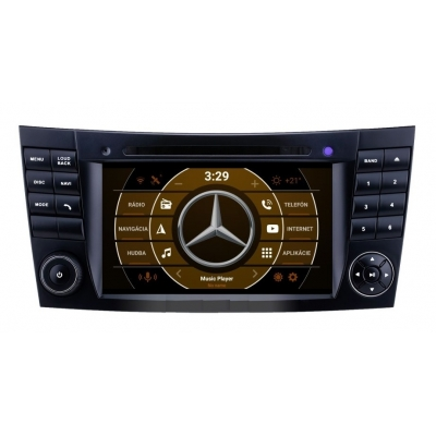 Mercedes BENZ 2 din Android Autorádio  s DVD USB a GPS Navigáciou – OS ANDROID 8.1