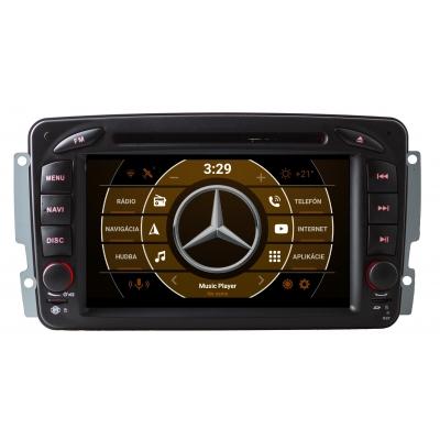 Mercedes Autorádio ANDROID 2din sWiFi DVD USB a GPS Navigáciou – ANDROID 8.1