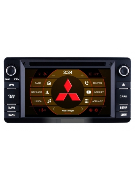 2din Android Autorádio Mitsubishi s WiFi DVD USB a GPS– OS ANDROID 8.0
