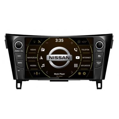 8 palcové Android Autorádio NISSAN s WiFi DVD USB a GPS– OS ANDROID 8.1