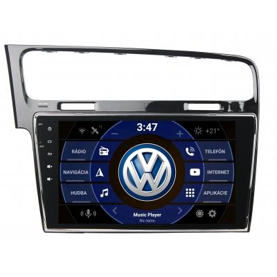 "Volkswagen GOLF VII. Autorádio OS ANDROID 9.0 ( 4GB RAM )10.1"" palcové"