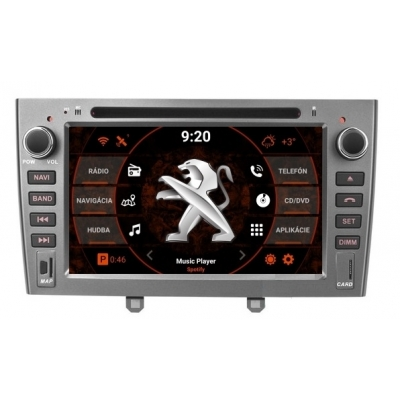 2din Android Autorádio PEUGEOT 308 s WiFi DVD USB a GPS– OS ANDROID 8.1