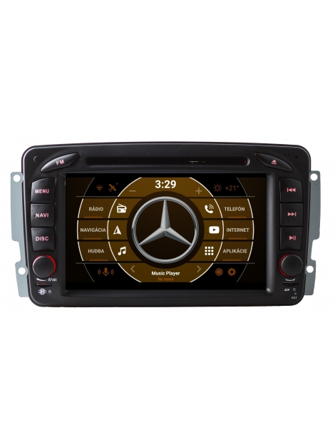"Mercedes Autorádio s OS ANDROID 9.0 - 7"" Palcové"