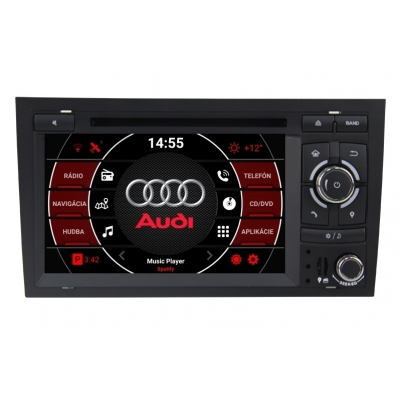 AUDI A4 2 din Android Autorádio  s DVD USB a GPS Navigáciou – OS ANDROID 9.0