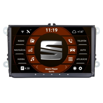 SEAT  9 palcové Android Autorádio DVD USB a GPS– OS ANDROID 9.0