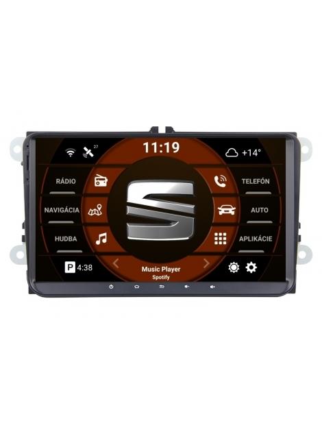 SEAT  9 palcové Android Autorádio DVD USB a GPS– OS ANDROID 9.0