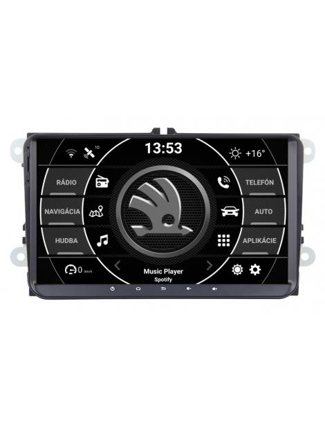 ŠKODA 9 palcové Android Autorádio DVD USB a GPS– OS ANDROID 9.0