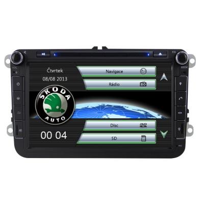ŠKODA Autorádio 8 palcové  Multimediálne s DVD USB a GPS Navigáciou – OS WIN CE 6