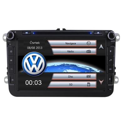 Volkswagen Autorádio 8 palcové  Multimediálne s DVD USB a GPS Navigáciou – OS WIN CE 6