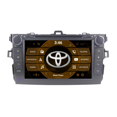 "TOYOTA Corolla 2din Autorádio ANDROID 10 (4GB RAM) 8"" Palcové"