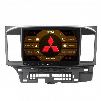 "Mitsubishi Lancer Autorádio ANDROID 10 (4GB RAM) 10,1"" Palcové"