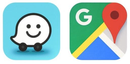 Waze navigácia, Google mapy, Navigácia s dopravnými informáciami